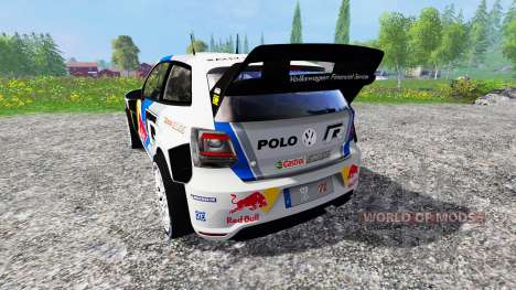 Volkswagen Polo WRC Red Bull для Farming Simulator 2015