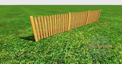 Wooden fence для Farming Simulator 2015