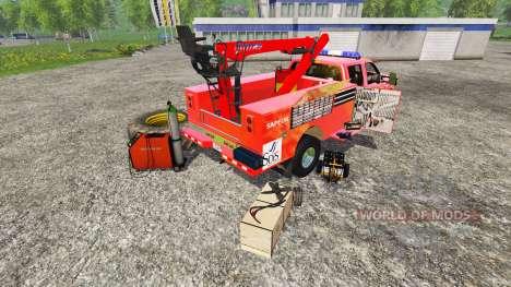 Ford F-350 [sapeur pompier] для Farming Simulator 2015