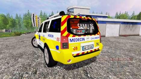 Nissan Pathfinder SAMU для Farming Simulator 2015