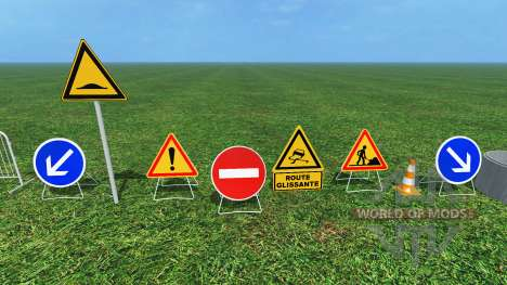 Construction Signs v1.1 для Farming Simulator 2015