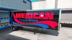 Скины UPS и American Trailer Works на полуприцеп для American Truck Simulator