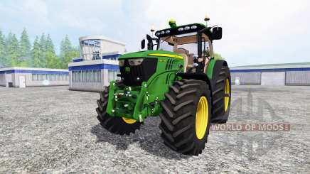 John Deere 6210R v2.0 [real run sound] для Farming Simulator 2015