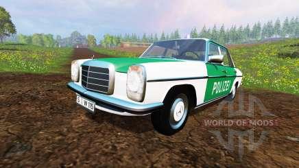 Mercedes-Benz 200D (W115) 1973 Police для Farming Simulator 2015