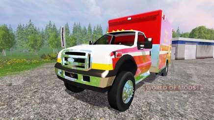 Ford F-350 [fire department] для Farming Simulator 2015