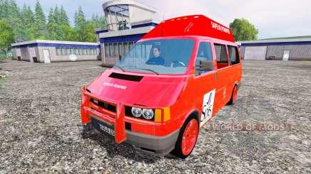 Volkswagen Transporter T4 [sapeur pompier] для Farming Simulator 2015
