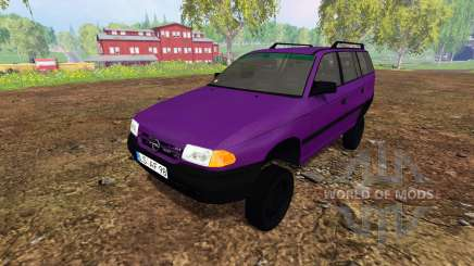 Opel Astra F Caravan [tuning] для Farming Simulator 2015