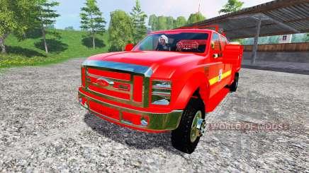 Ford F-350 [feuerwehr] для Farming Simulator 2015