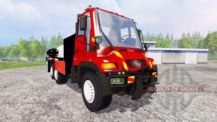 Mercedes-Benz Unimog U400 [sapeur pompier] для Farming Simulator 2015