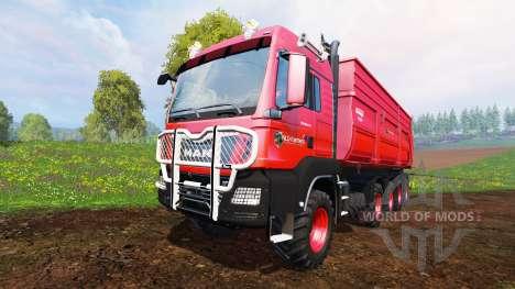 MAN TGS 10x8 v1.2 для Farming Simulator 2015