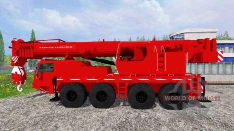 Liebherr LTM 1090 Sapeur Pompiers v1.2 для Farming Simulator 2015