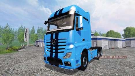 Mercedes-Benz Actros 2014 v2.0 для Farming Simulator 2015