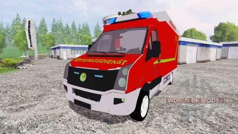 Volkswagen Crafter Rettungsdienst для Farming Simulator 2015