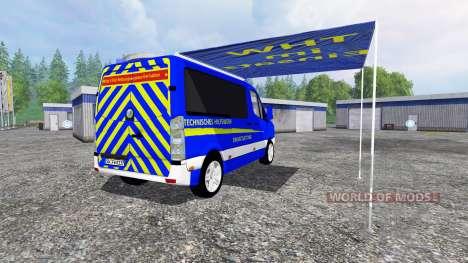 Volkswagen Crafter THW ELW для Farming Simulator 2015