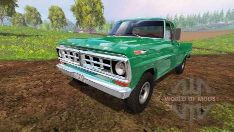 Ford F-100 1970 4x4 для Farming Simulator 2015