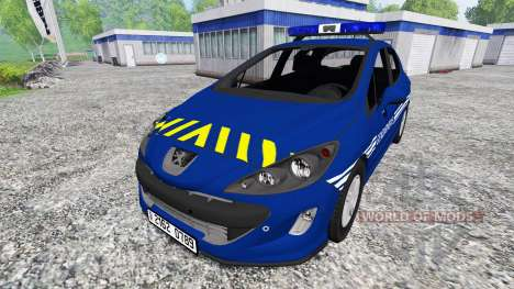 Peugeot 308 Gendarmerie для Farming Simulator 2015