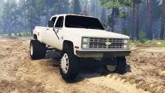 Chevrolet Silverado Dually Crew Cab 1986 для Spin Tires