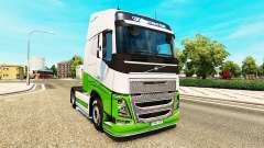 Скин eAcres v1.1 на тягач Volvo для Euro Truck Simulator 2
