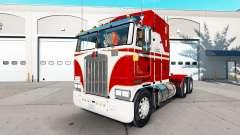 Скин White & Red на тягач Kenworth K100 для American Truck Simulator