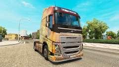 Скин Nebula Grunge на тягач Volvo для Euro Truck Simulator 2