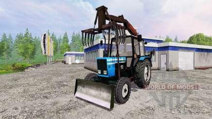 МТЗ-82.1 [грейферный погрузчик] для Farming Simulator 2015