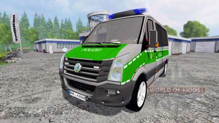 Volkswagen Crafter Bavaria Police для Farming Simulator 2015