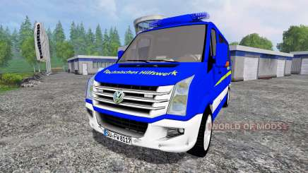 Volkswagen Crafter THW ELW для Farming Simulator 2015