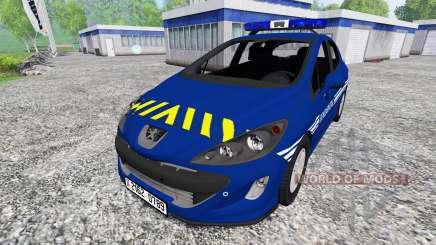 Peugeot 308 Gendarmerie для Farming Simulator 2015