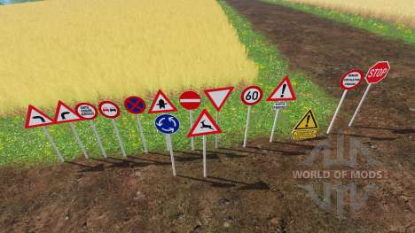 Warning Traffic Signs v1.1 для Farming Simulator 2015