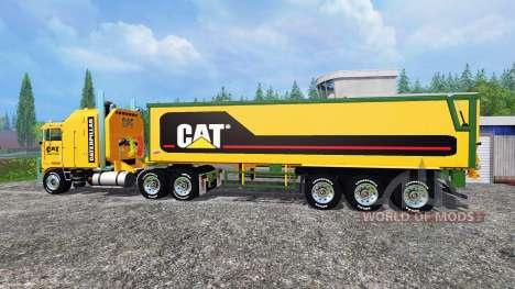 Kenworth K100 CAT для Farming Simulator 2015