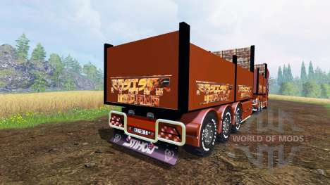 Scania R1000 [flatbed] для Farming Simulator 2015