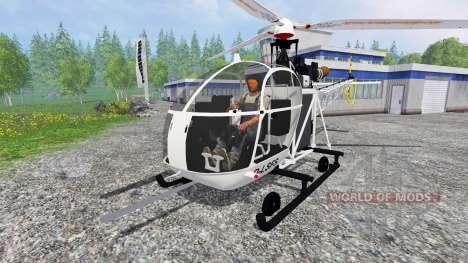 Sud-Aviation Alouette II для Farming Simulator 2015