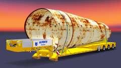 Низкорамный трал с грузом ржавой трубы для Euro Truck Simulator 2