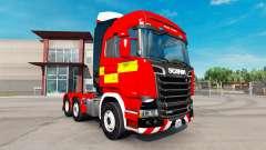 Скин Fire Truck на тягач Scania R730 для American Truck Simulator
