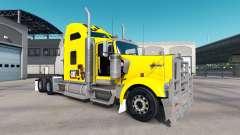 Скин Caterpillar на тягач Kenworth W900 для American Truck Simulator