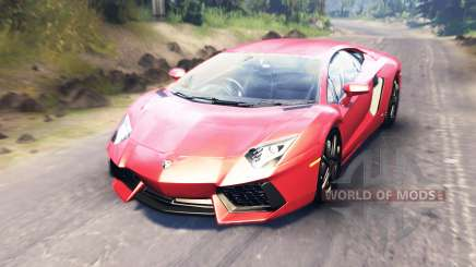 Lamborghini Aventador для Spin Tires