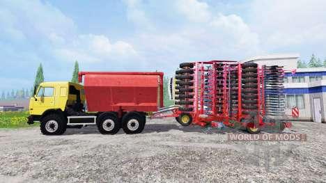 КамАЗ-54115 с загрузчиком сеялок и с сеялкой для Farming Simulator 2015
