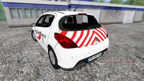 Peugeot 308 [police nationale] для Farming Simulator 2015
