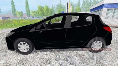Peugeot 308 [unmarked police] для Farming Simulator 2015