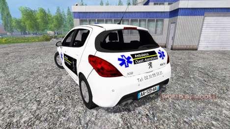 Peugeot 308 Ambulance для Farming Simulator 2015