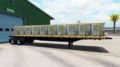 Полуприцеп-площадка с различными грузами для American Truck Simulator