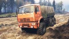 КамАЗ-6522 v5.0 для Spin Tires