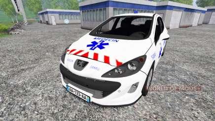 Peugeot 308 [medecin samu] для Farming Simulator 2015