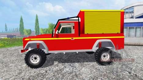 Land Rover Defender 110 Pickup sapeurs-pompiers для Farming Simulator 2015