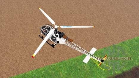 Sud-Aviation Alouette II v2.0 для Farming Simulator 2015