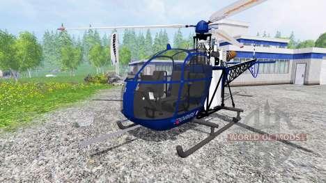 Sud-Aviation Alouette II Gendarmerie для Farming Simulator 2015