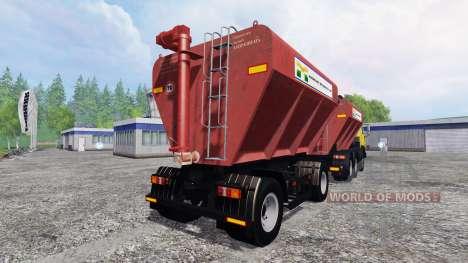 КамАЗ-54115 с загрузчиком сеялок и прицепом для Farming Simulator 2015