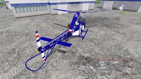 Sud-Aviation Alouette II Police для Farming Simulator 2015