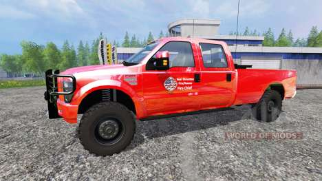 Ford F-350 American Fire Chief для Farming Simulator 2015