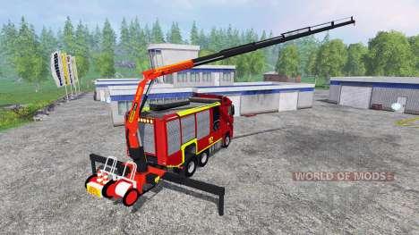 Mercedes-Benz Actros [reuerwehr] для Farming Simulator 2015
